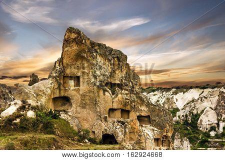 Mountain landscape in national park Goreme, Cappadocia, Turkey