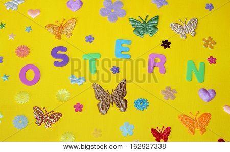 Easter holiday Sunday Spring butterflies flowers stars Ostern Urlaub Sonntag Frühling Schmetterlinge Blumen Sterne