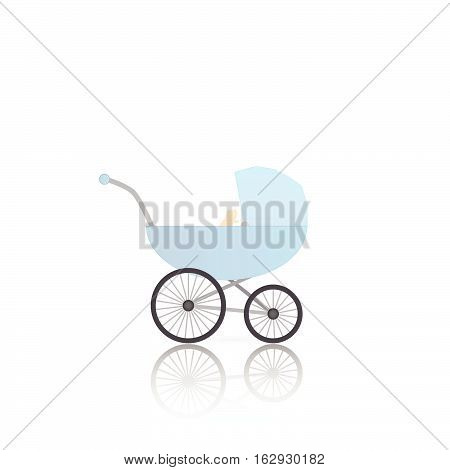 Illustration of a baby stroller isolated on a white background.