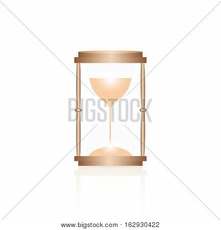 Illustration of an hourglass isolated on a white background.