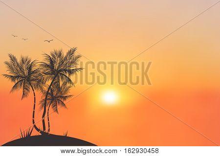 Colorful sunset or sunrise blurred background illustration