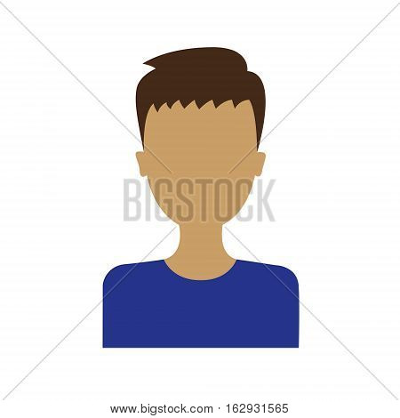 man portrait icon isolated on a white background