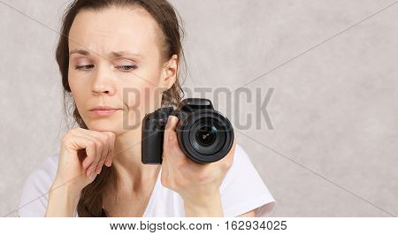 Young Lady With A Camera