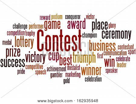 Contest, Word Cloud Concept