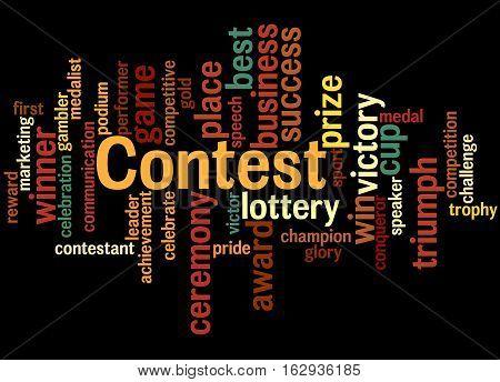 Contest, Word Cloud Concept 8