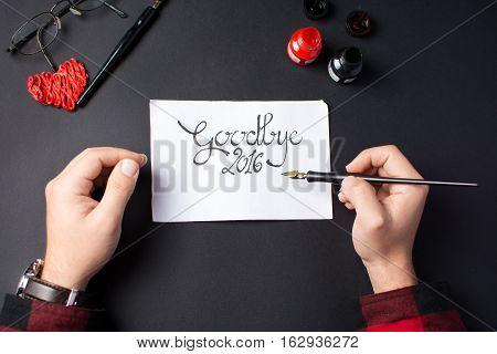 Writing A Goodbye 2016 Card