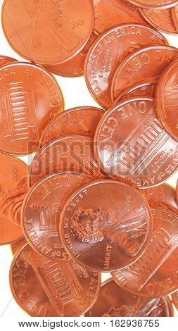 Dollar Coin 1 Cent Wheat Penny Cent - Vertical