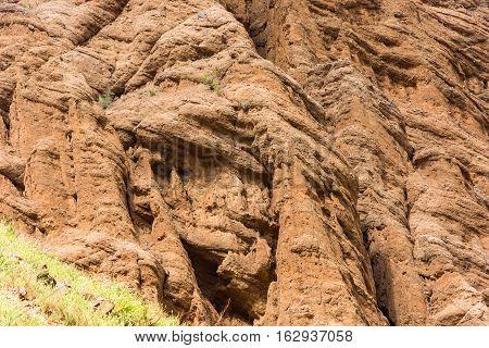 Fragment Of Orange Aeolian Mountains.