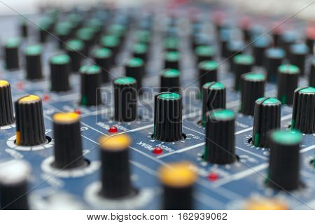 Colorful sound mixer. Texture design. Stock photo