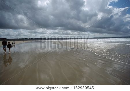 Beach, Sun And Ocean In Brittany