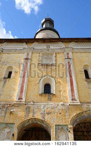 Gate Church of St. John of the Lestvichnika in Kirillo-Belozersky monastery near City Kirillov Vologda region Russia.
