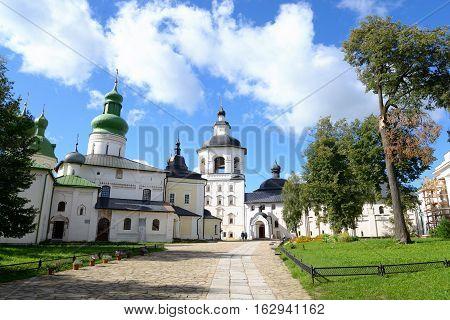 Kirillo-Belozersky monastery at summer near City Kirillov Vologda region Russia.