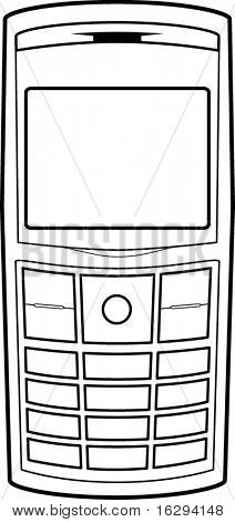 cell phone line art