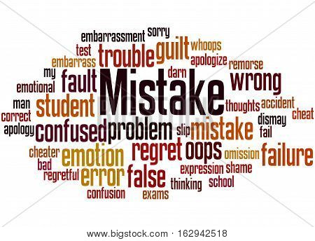 Mistake, Word Cloud Concept 3
