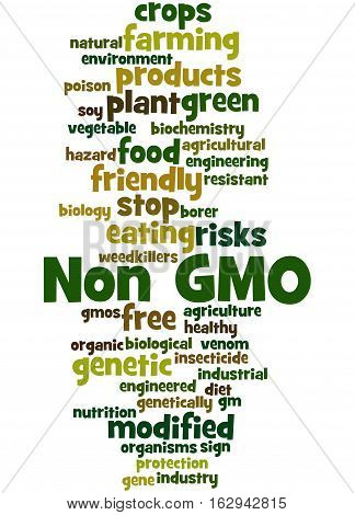Non Gmo, Word Cloud Concept 3