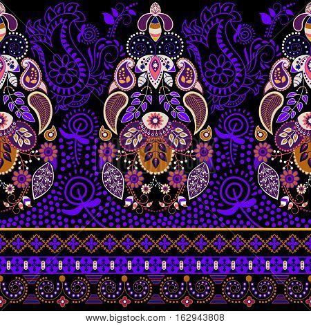 Colorful Paisley pattern. Ethnic background. Paisley backdrop