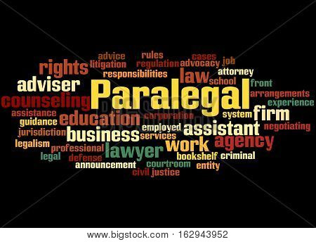 Paralegal, Word Cloud Concept 3
