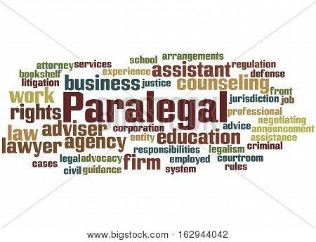 Paralegal, Word Cloud Concept 5