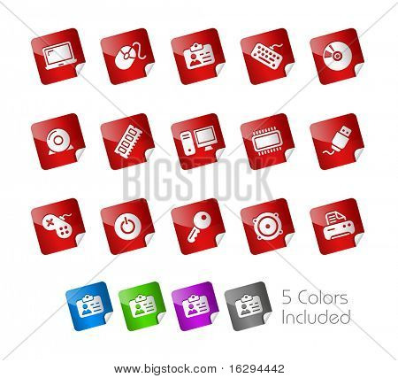 Computer & Devices // Stickers Series -------It includes 5 color versions for each icon in different layers ---------