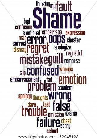 Shame, Word Cloud Concept 8