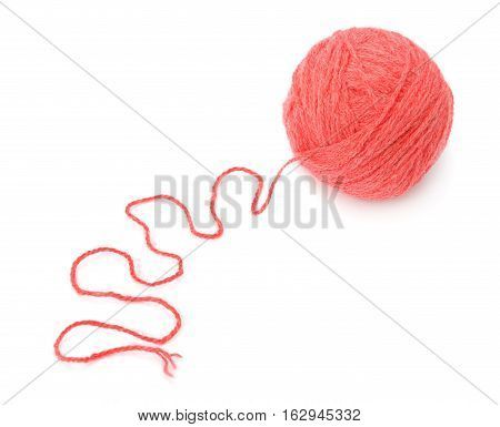 skein of thread isolated on white background