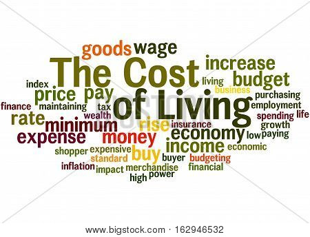 The Cost Of Living, Word Cloud Concept
