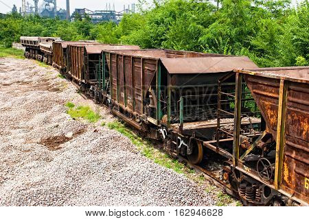 Wagons Are Near The Plant