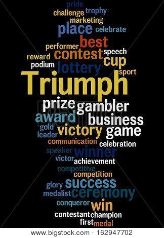 Triumph, Word Cloud Concept 7