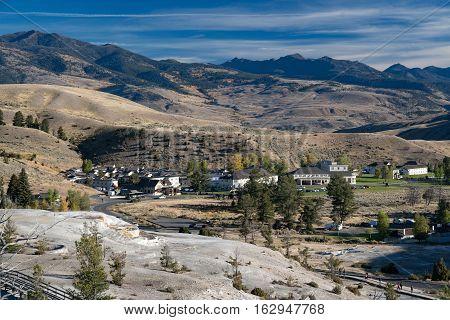 Mammoth Hot Springs Yellowstone National Park, Wyoming