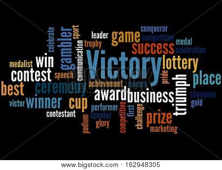Victory, Word Cloud Concept 4