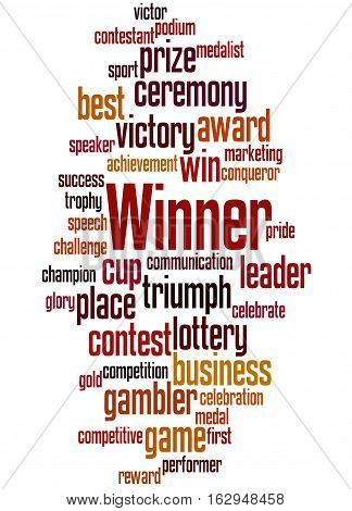 Winner, Word Cloud Concept