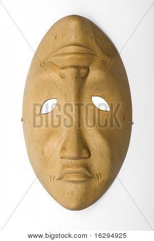 Wooden venetian mask