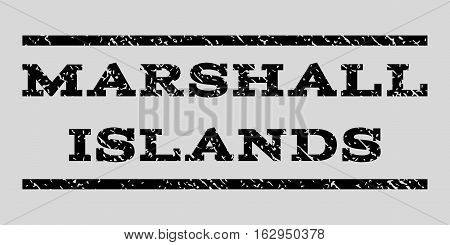Marshall Islands watermark stamp. Text caption between horizontal parallel lines with grunge design style. Rubber seal stamp with dust texture.