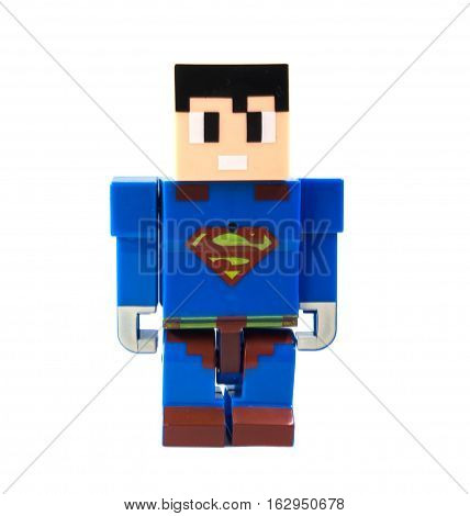 super man, strong,figure,figurine, blue,square, fast, from another planet