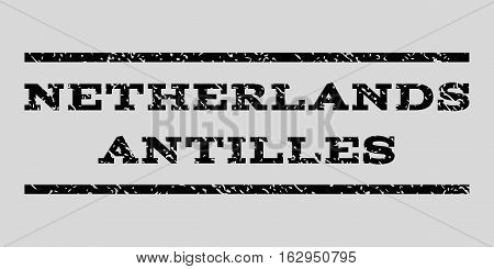 Netherlands Antilles watermark stamp. Text tag between horizontal parallel lines with grunge design style. Rubber seal stamp with dust texture.