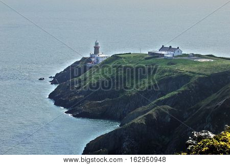 Baily Lighthouse, The Baily Lighthouse is on the sout, heastern part of Howth Head, Ireland