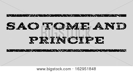 Sao Tome and Principe watermark stamp. Text tag between horizontal parallel lines with grunge design style. Rubber seal stamp with dirty texture.