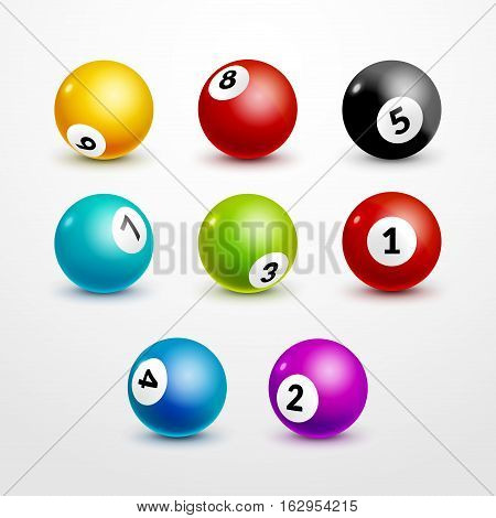 Bingo lottery balls set numbers background. Lottery game balls. Lotto winner.