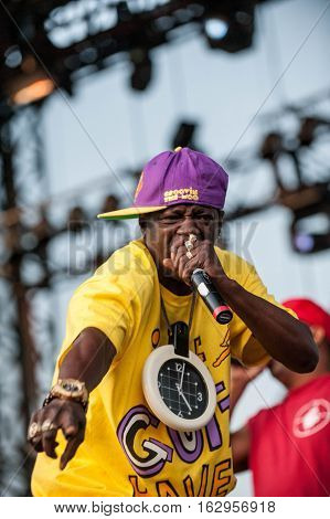 BELGRADE, SERBIA - JUNE 27TH: PUBLIC ENEMY (HIP HOP GROUP) PERFORMING ON BELGRADE CALLING FESTIVAL ON JUNE 27TH 2012, IN BELGRADE, SERBIA