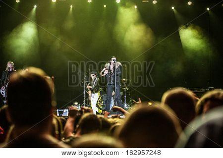 BELGRADE, SERBIA - JUNE 28TH: AMERICAN HARD ROCK BAND THE CULT PERFORMING ON BELGRADE CALLING FESTIVAL ON JUNE 28TH 2012, IN BELGRADE, SERBIA