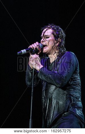 Belgrade, Serbia - June 28th: Ozzy Osbourne performing on Belgrade Calling festival on June 28th 2012, in Belgrade, Serbia