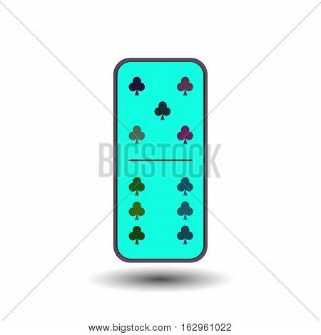 Domino Vector Sketch Icon Isolated On Background. Hand Drawn  .    For Infographic, Website Or App.