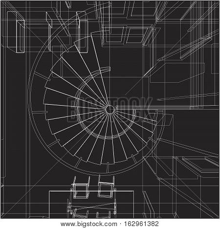 Spiral Staircase Vector 19.eps