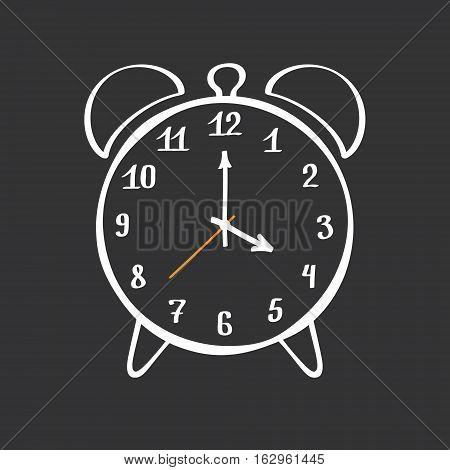 Alarm Clock. Hand Drawn Vector Design Element