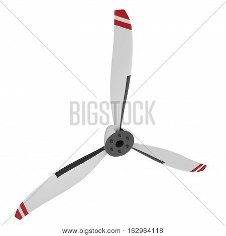 Propeller Blade on white background. 3D illustration
