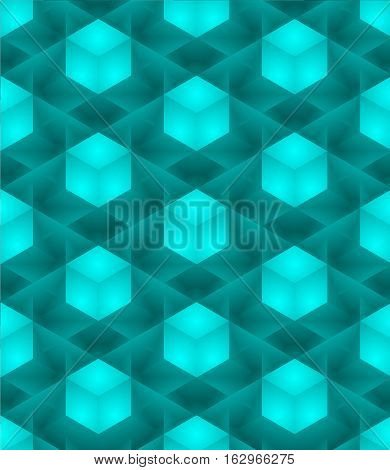 3D abstract Cubes, seamless pattern illustration vector