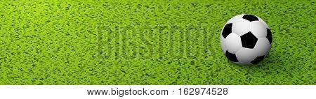 Soccer background witn green grass. Football sport background banner design.