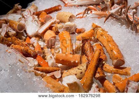 Close Up Of Alaskan King Crab Legs