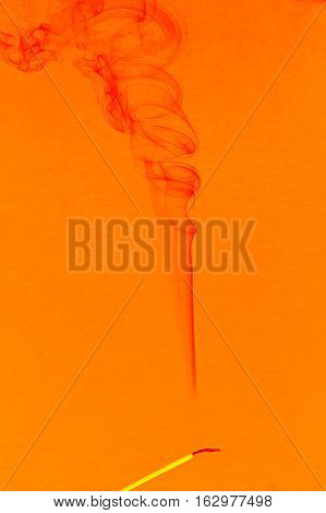 Abstract white smoke from an incense stick