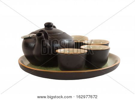 Kettle cup and saucer for traditional Chinese tea ceremony
